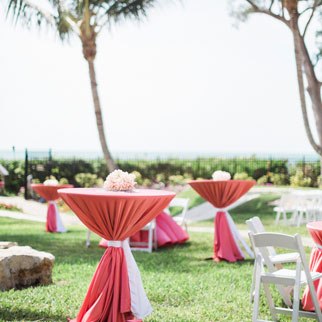 Outdoor wedding reception in Naples, FL