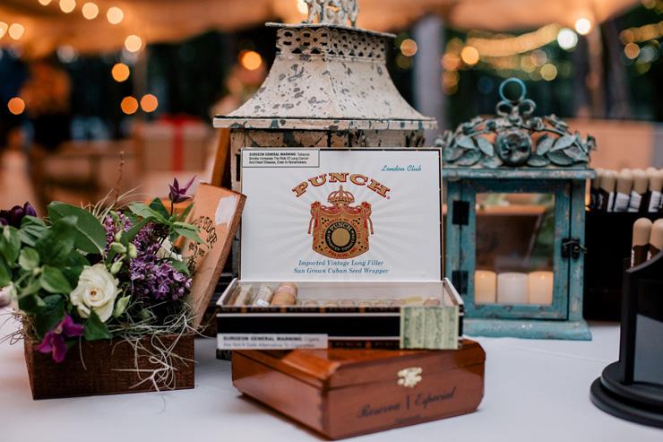 Cigar Station at Florida Wedding