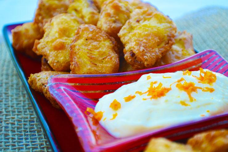 Artichoke fritters appetizer