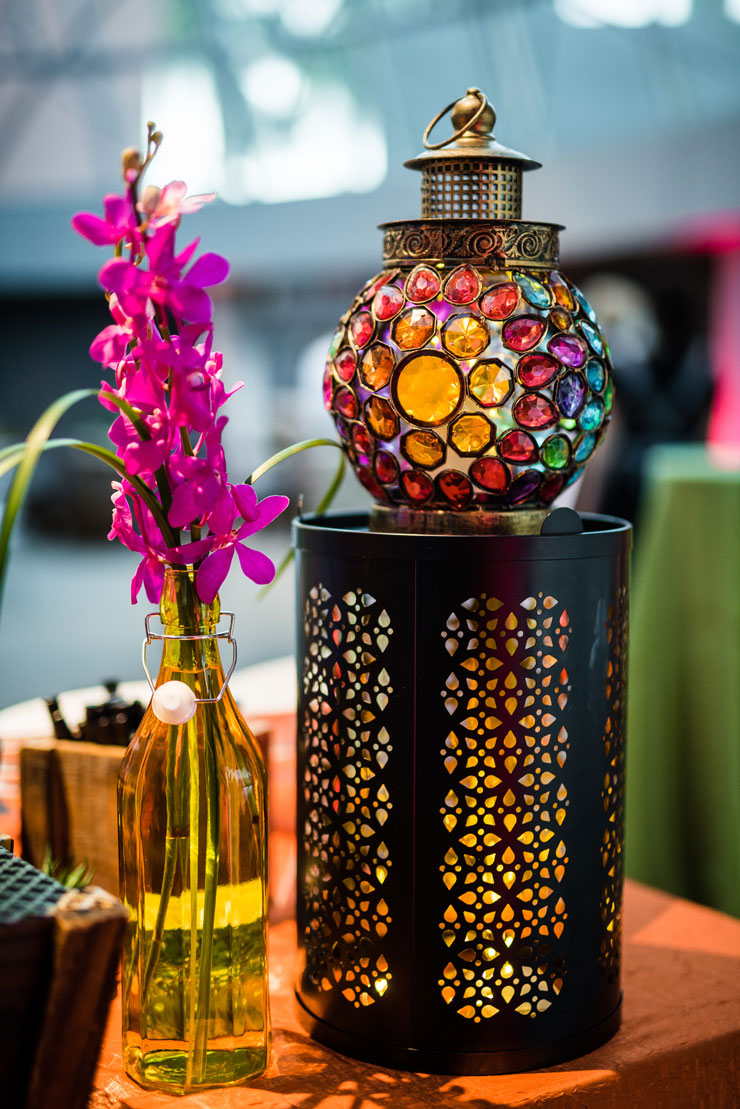 Jewel Tone Centerpieces and Decor