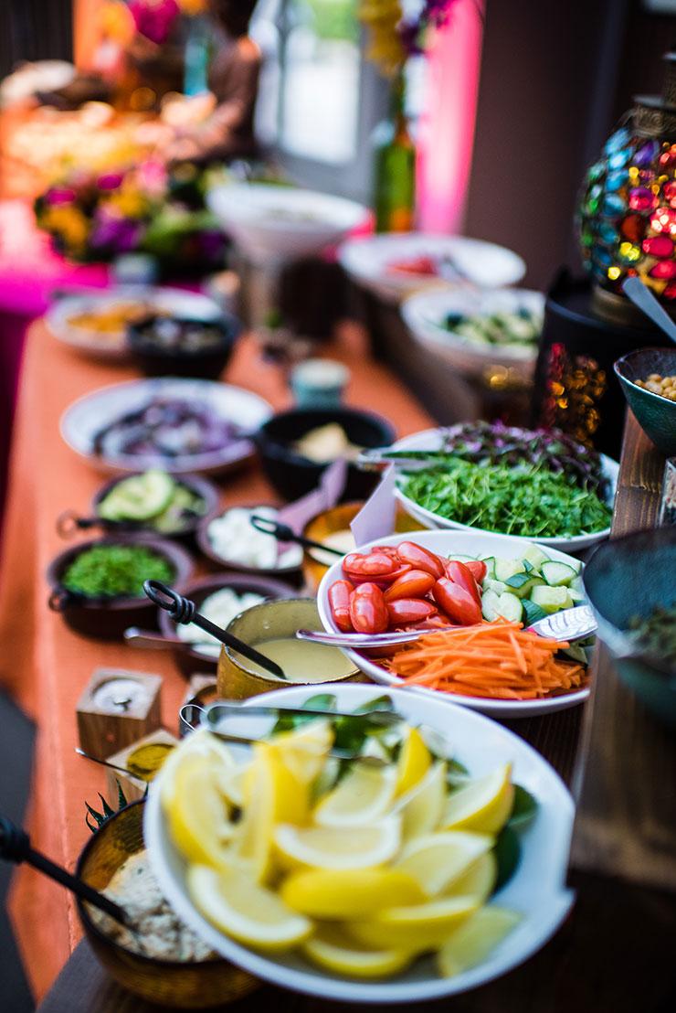 Ingredients for Tastebuds Buddha Bowl food station.