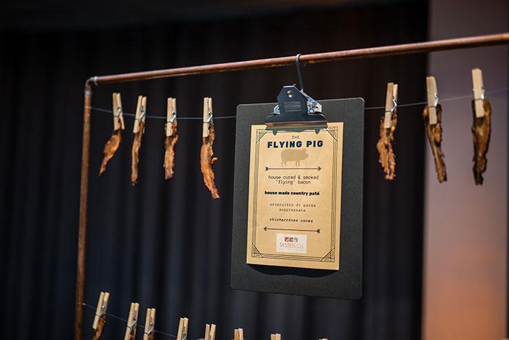 Tastebuds flying pig food station